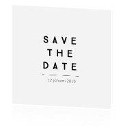 Minimalistische Save the date kaart