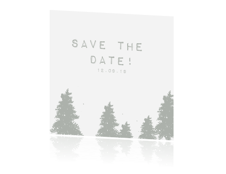Save the date kaart, forest