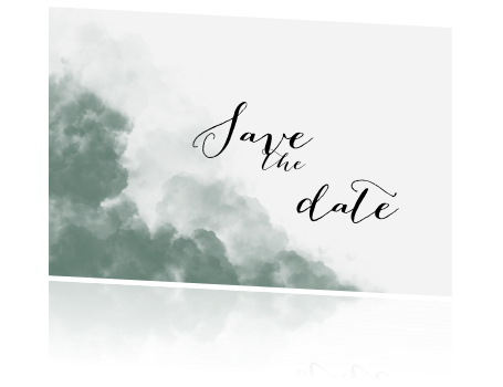 Stoere save the date kaart met wolken